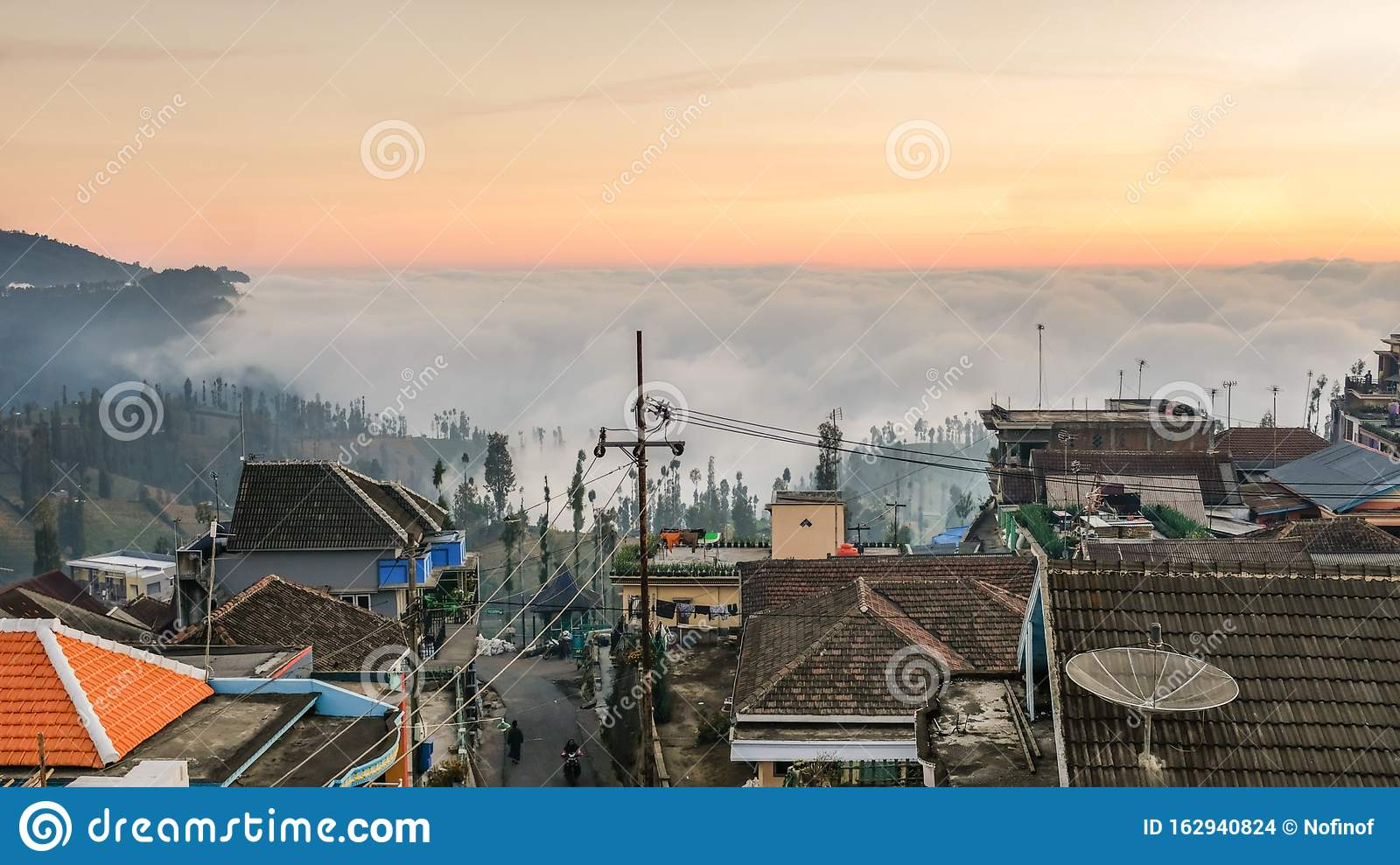 Sunset In Ngadas Malang East Java Indonesia Editorial Stock Image Image Of View Hill 162940824
