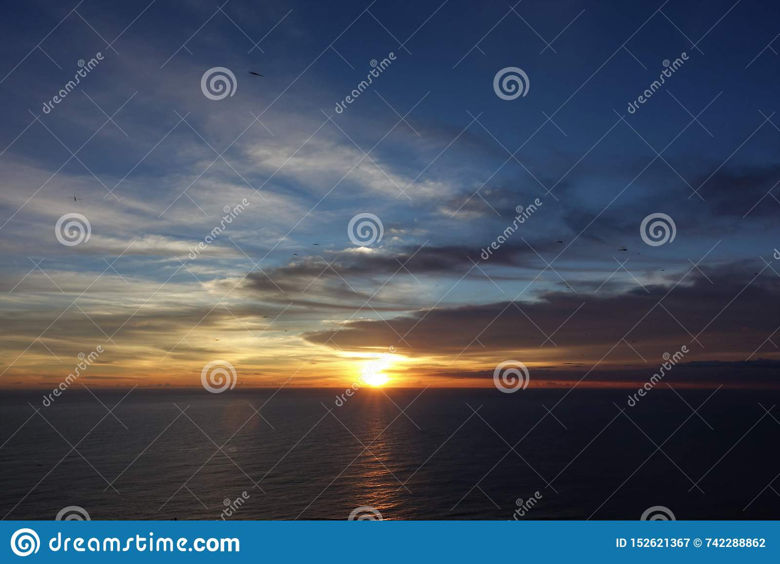 Sunset in guanshan of Taiwan