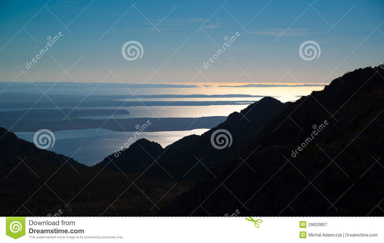 View from Velebit mountains in Croatia