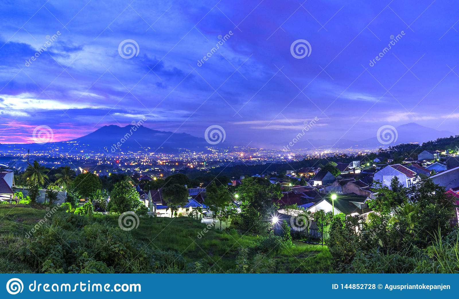 Sunset With Views Of Malang S Java City Of Indonesia Stock Photo Image Of Freshness Edge 144852728
