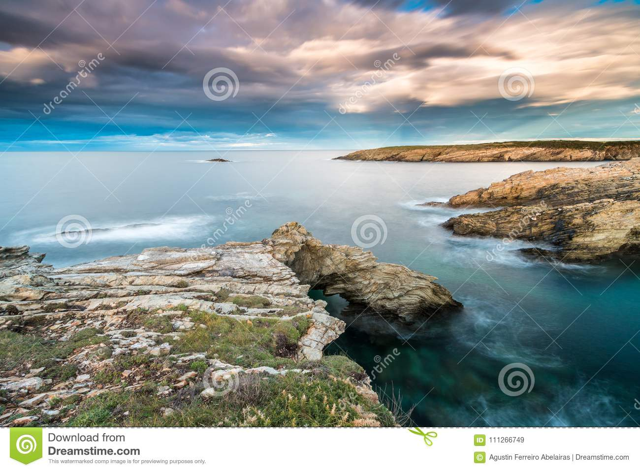 The sunsets in the sea of the coasts and beaches of Galicia and Asturias
