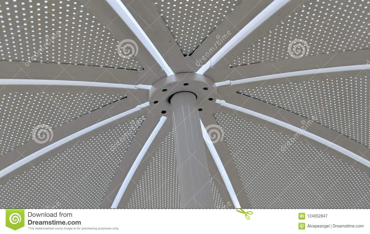 Sunshade Metal Sheet Pierced With Small Holes Stock Image - Image of