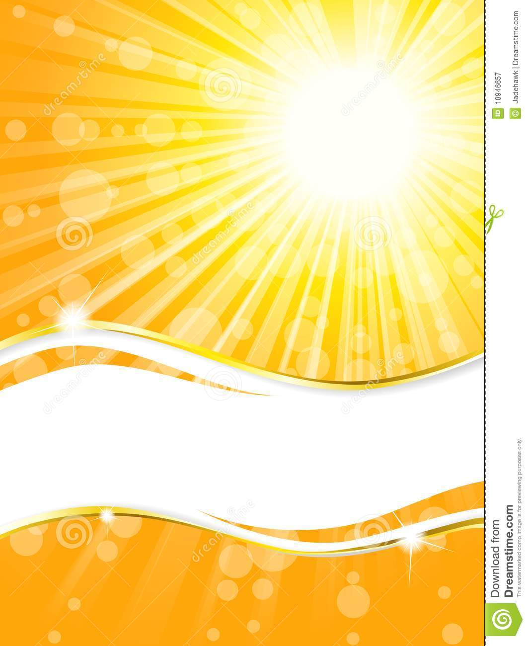 Sunshine Banner With Transparencies, Vertical Stock Vector