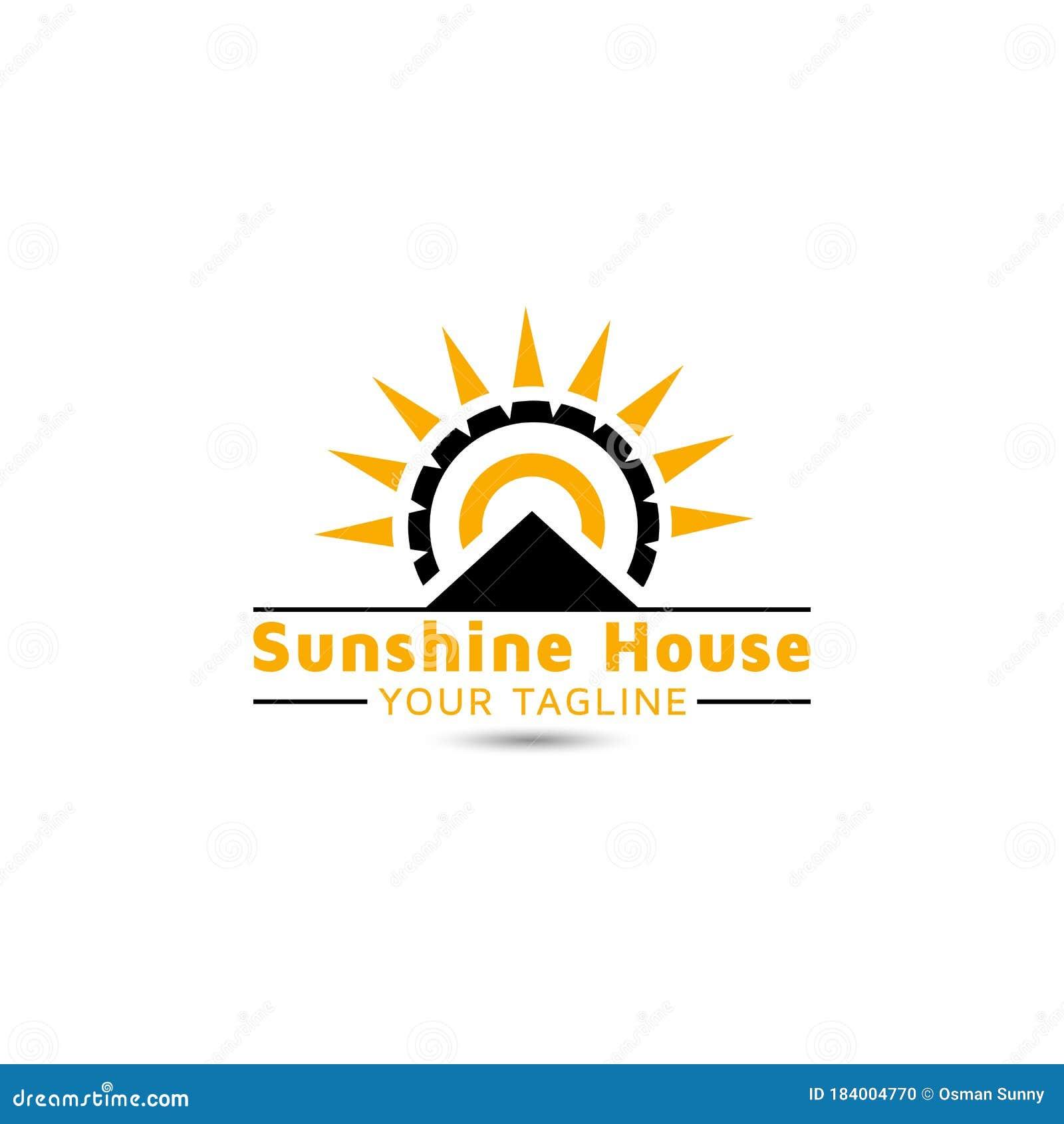 Sunshine Real Estate Vector Logo Design Inspiration Stock ...