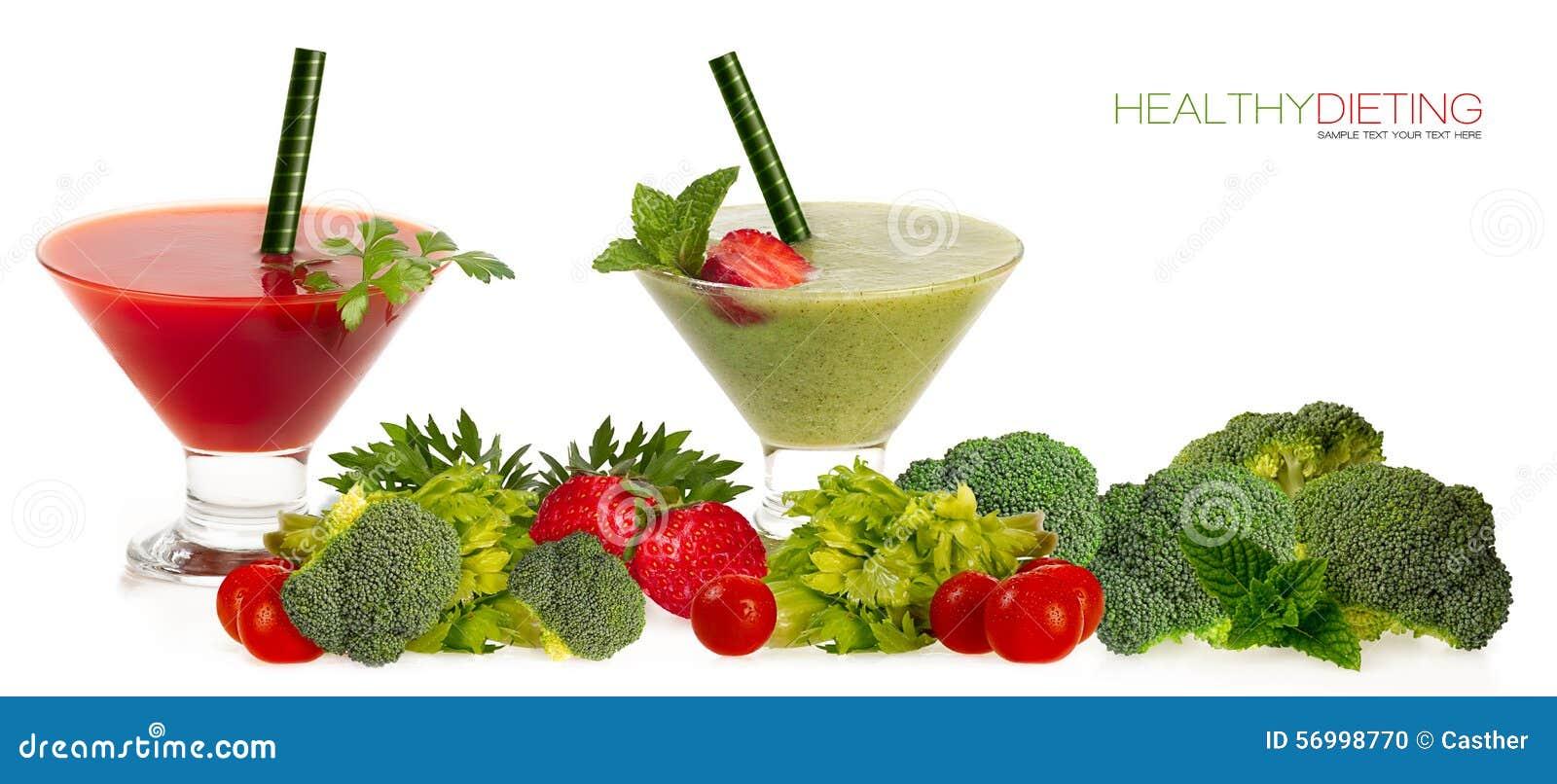 Sunt banta begrepp Smoothies med ny frukt och Vegatabl