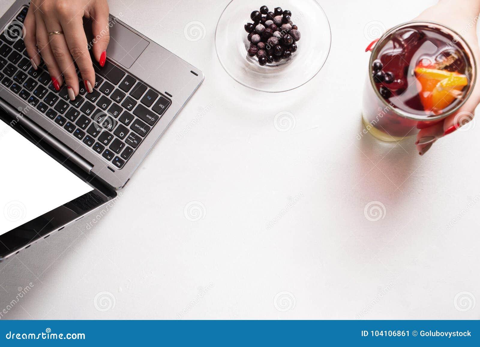 Sunt begrepp för blogg för livsstil för fruktmatdrink