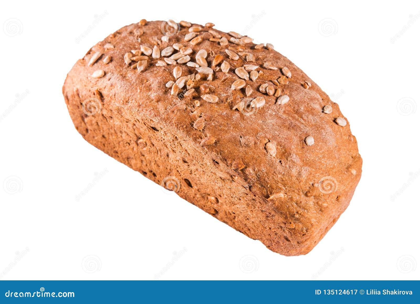Sunt bröd med frö på en vit isolerade bakgrund