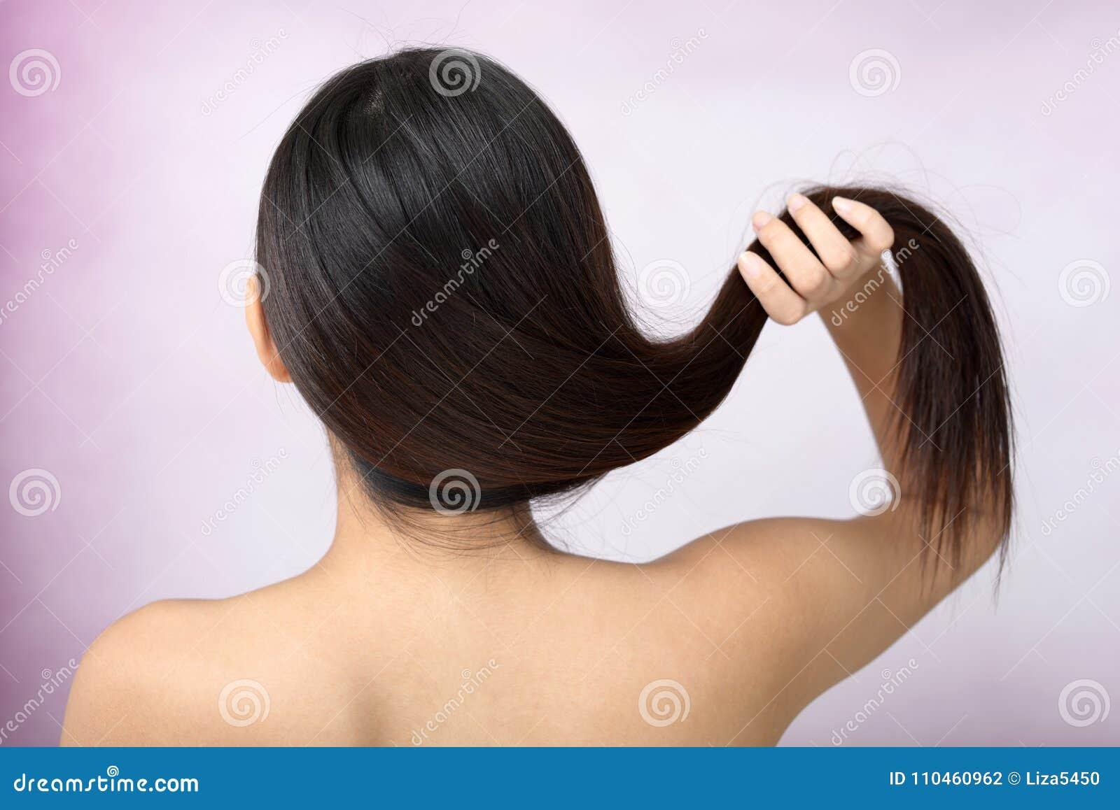 Sunt långt hår