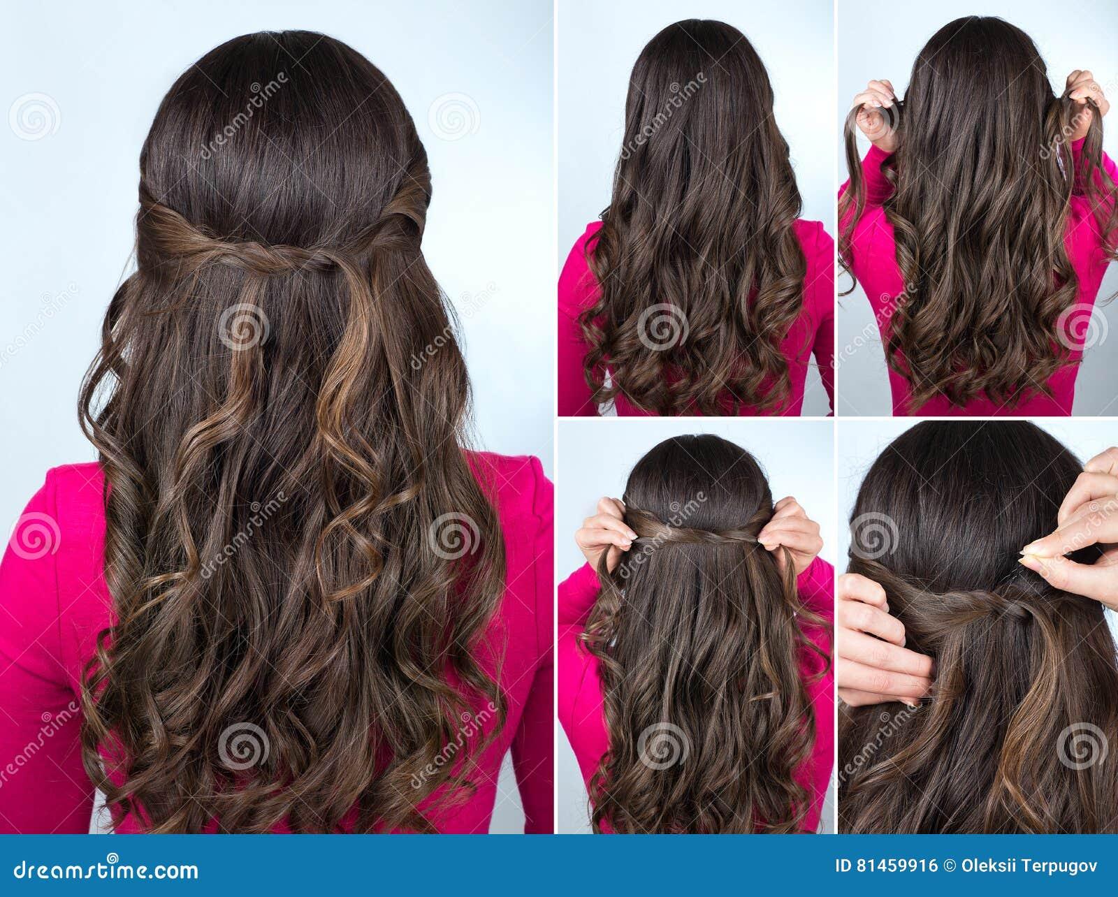 Supłająca Fryzura Na Kędzierzawego Włosy Tutorial Zdjęcie