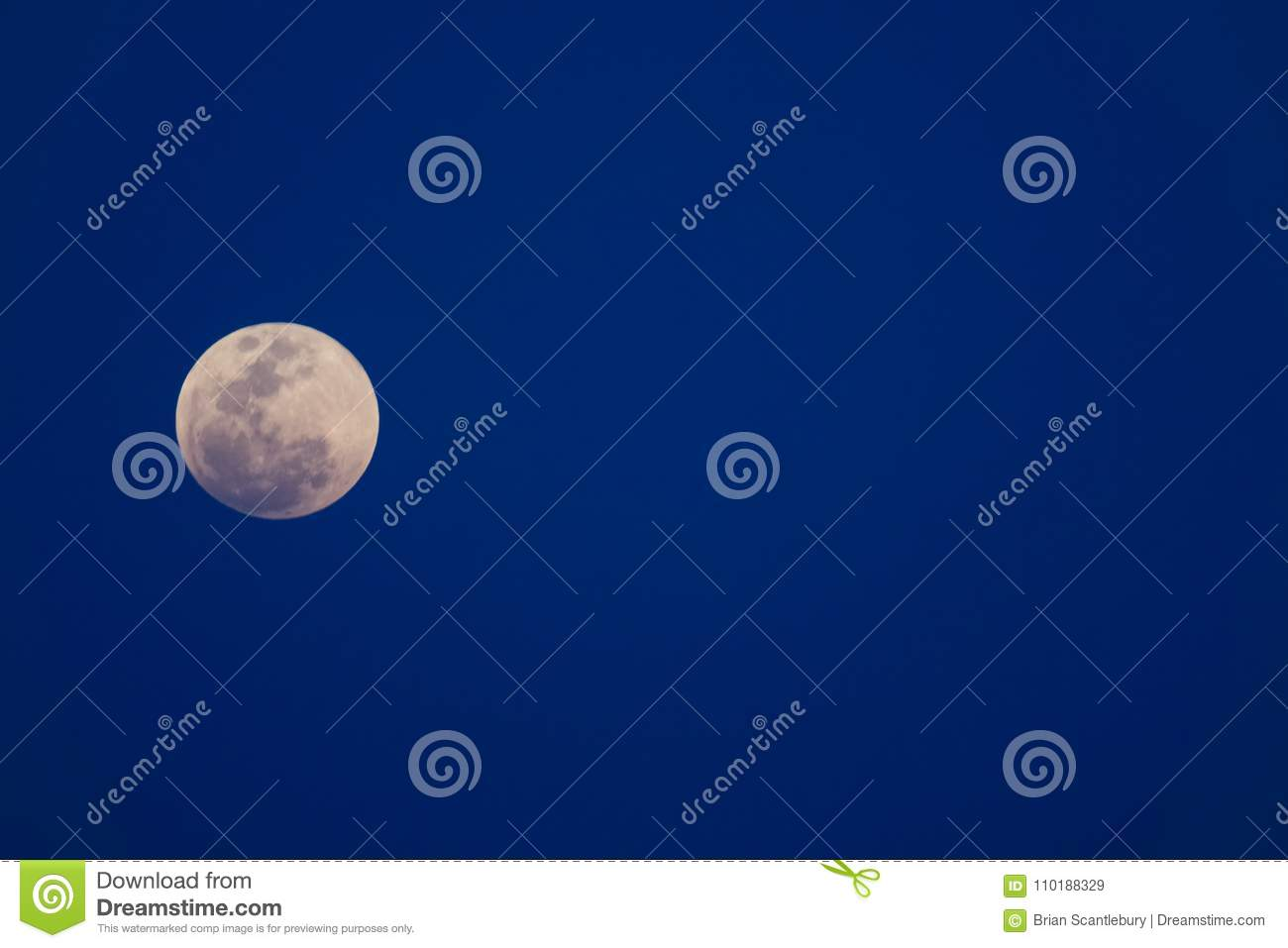 Super Blue Moon In Sky Over Thailand  Stock Image - Image of asian