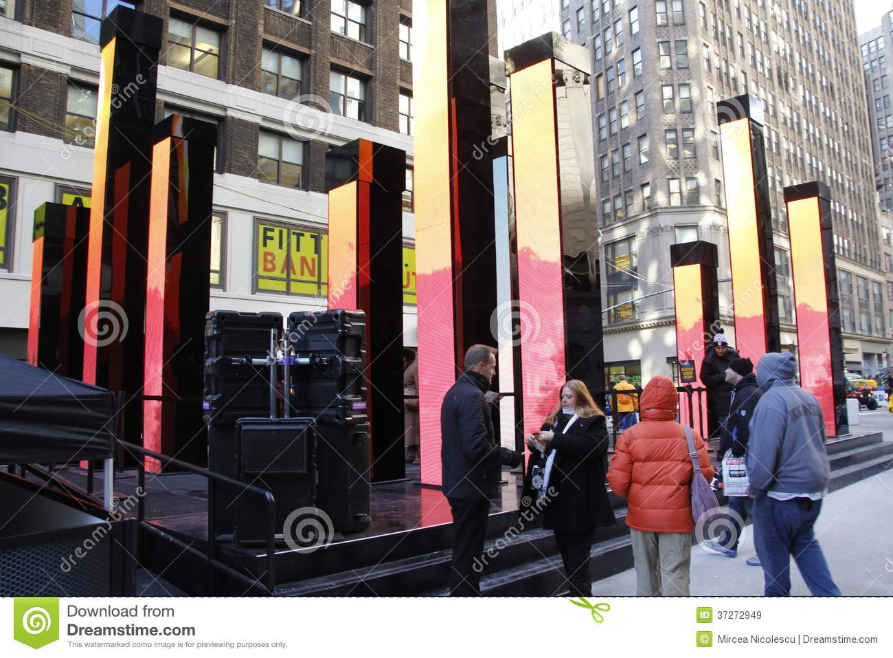Super bowl boulevard editorial stock image image 37272949 for Activities in times square