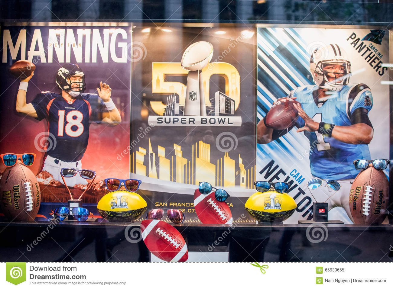 Super Bowl 50 Broncos and Panthers