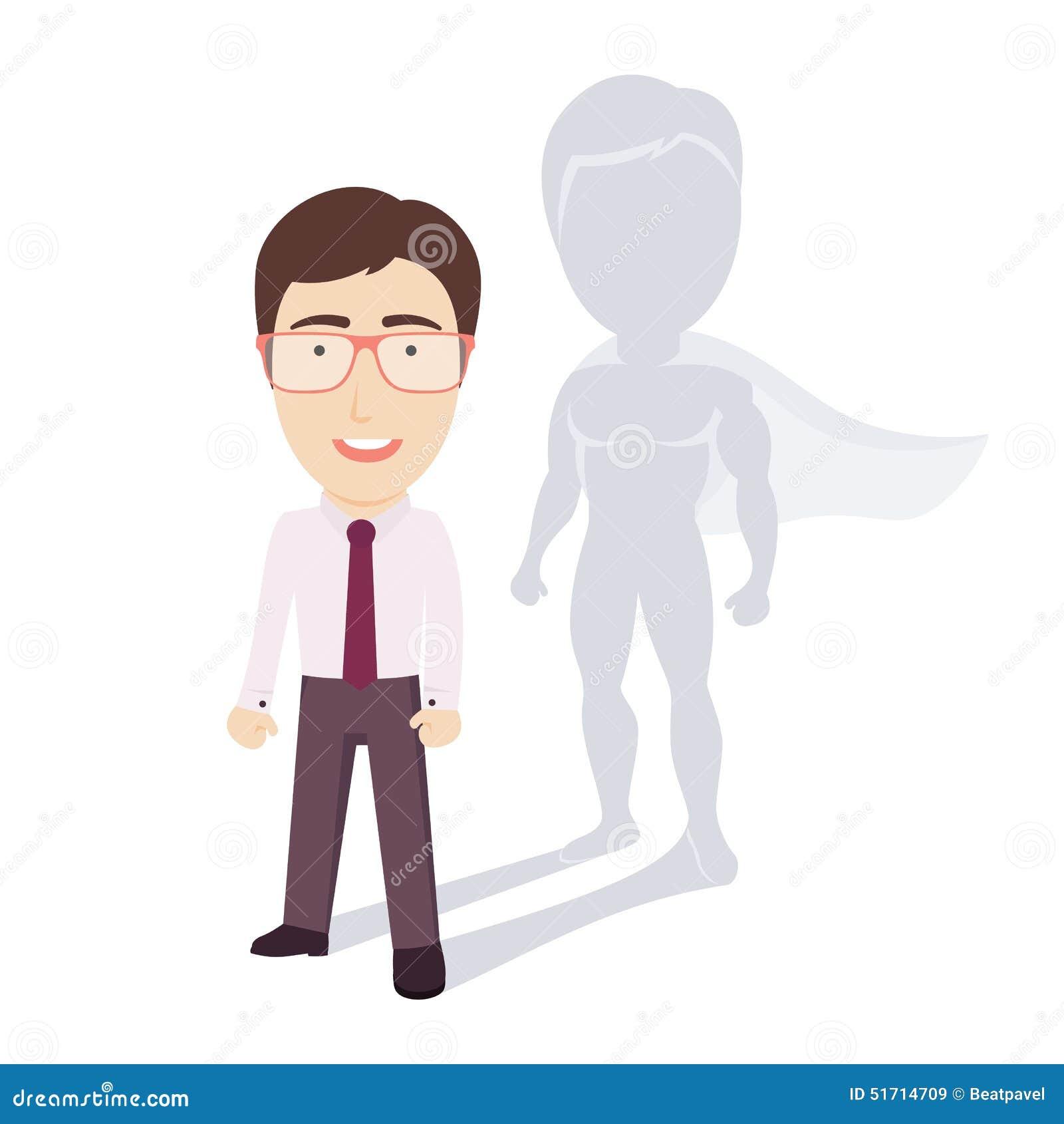 Super Businessman Stock Vector Image 51714709