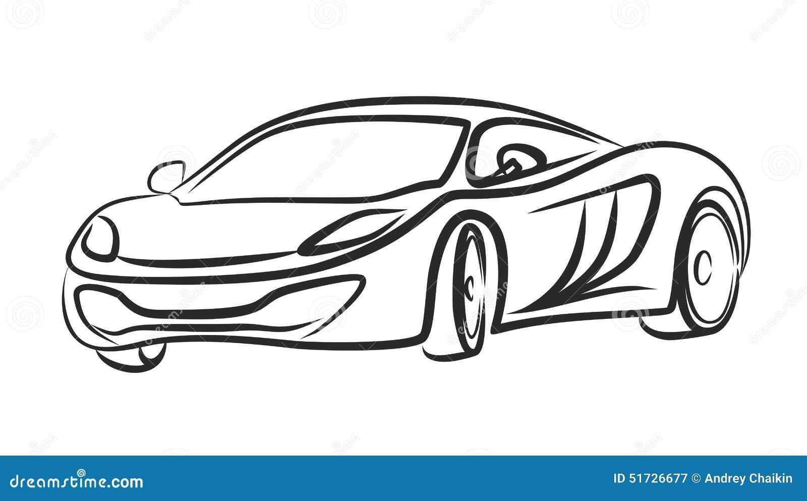Super Car Stock Vector Image
