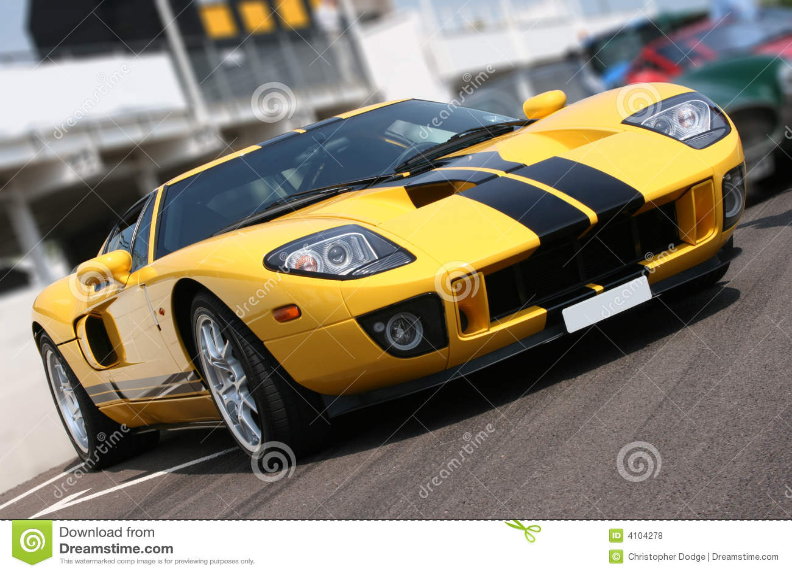 Super Car At Race Circuit Royalty Free Stock Photos Image