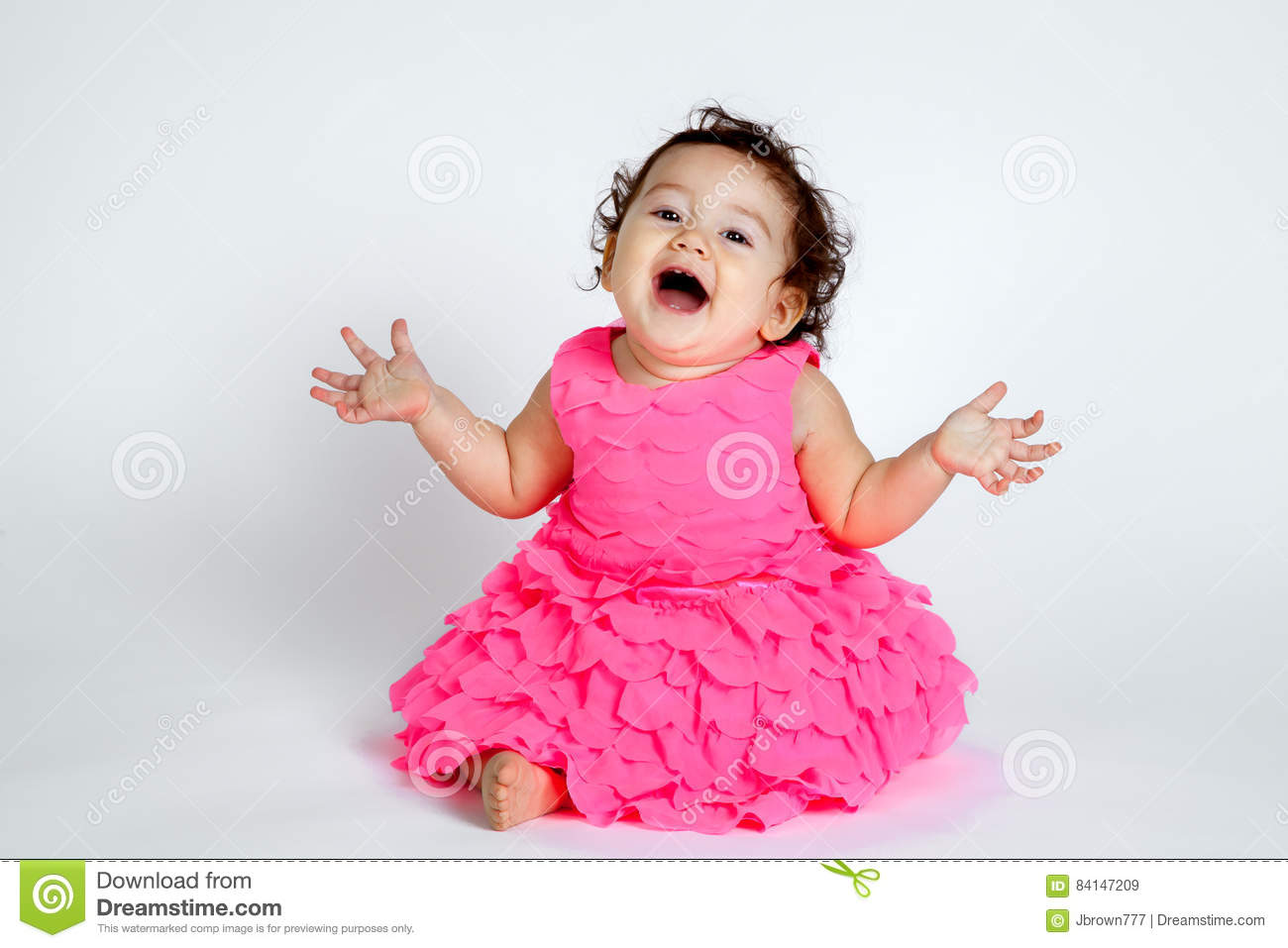 super cute baby surprise stock image. image of laughing - 84147209