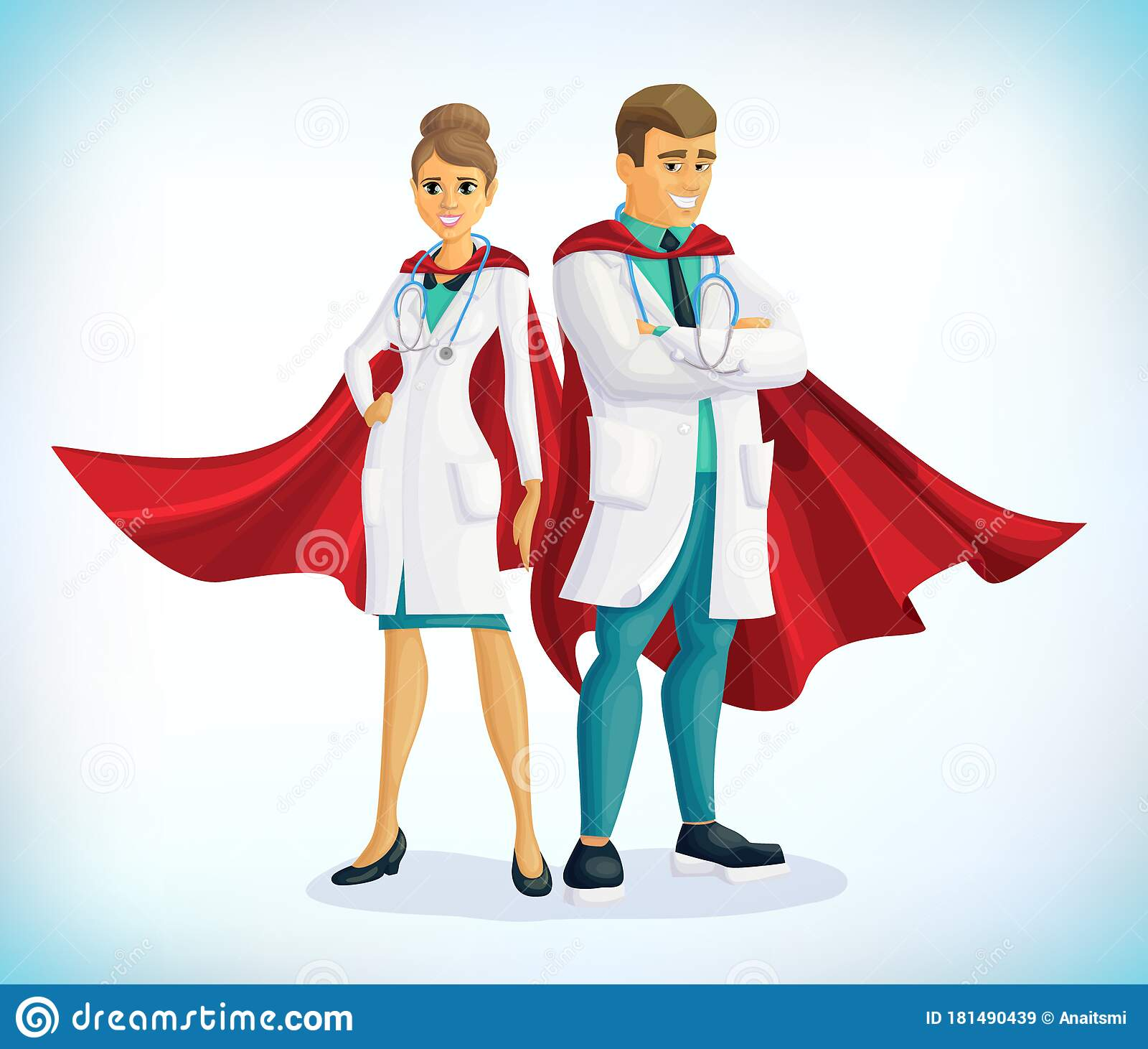 Stethoscope Medical Comic Character Vector Illustration ...