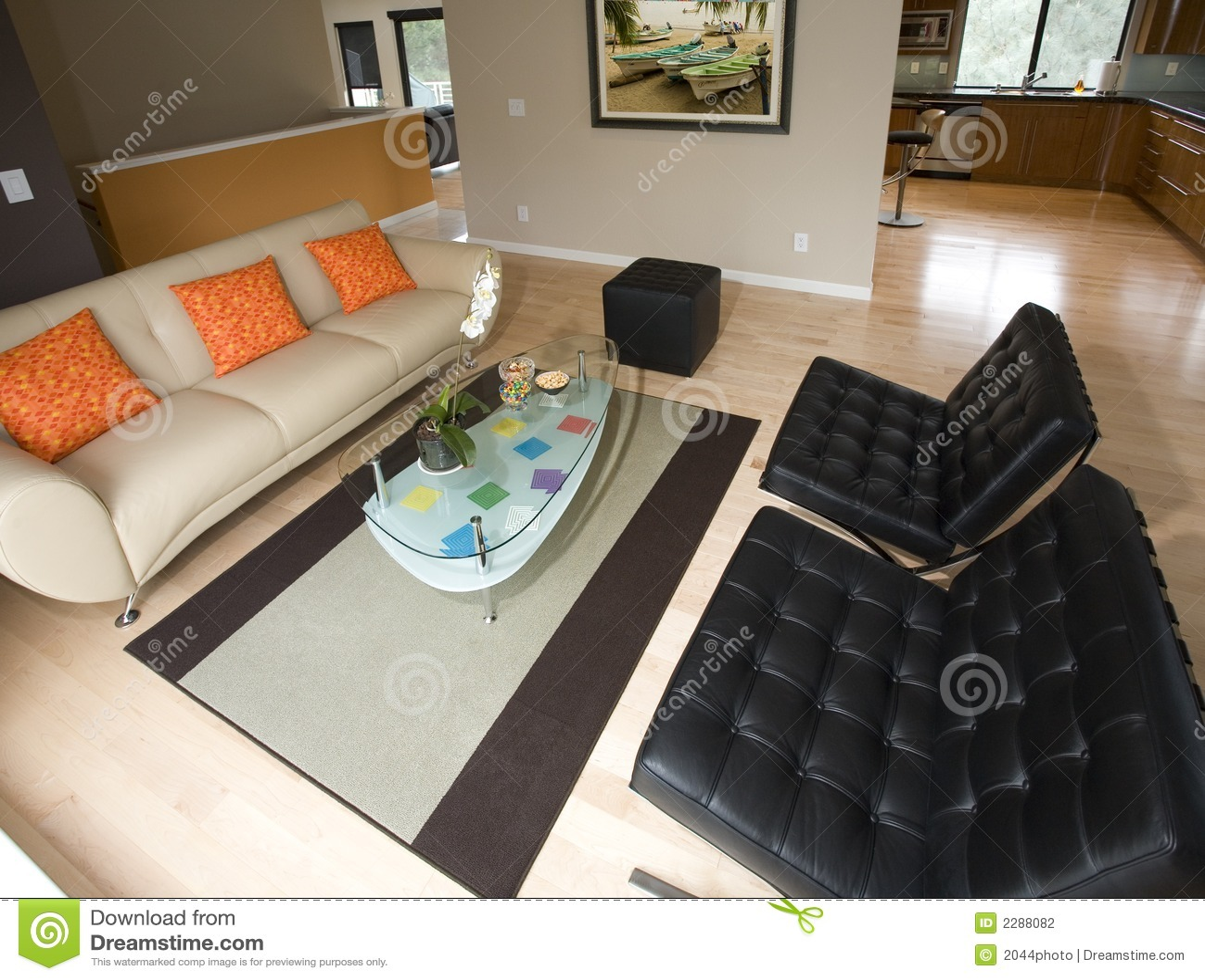 Super eigentijdse woonkamer stock foto afbeelding 2288082 - Eigentijdse muur ...