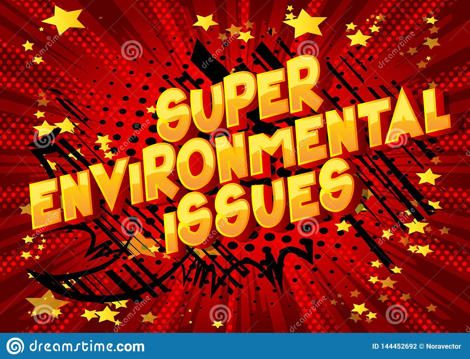 Super Environmental Issues - Comic book style words.