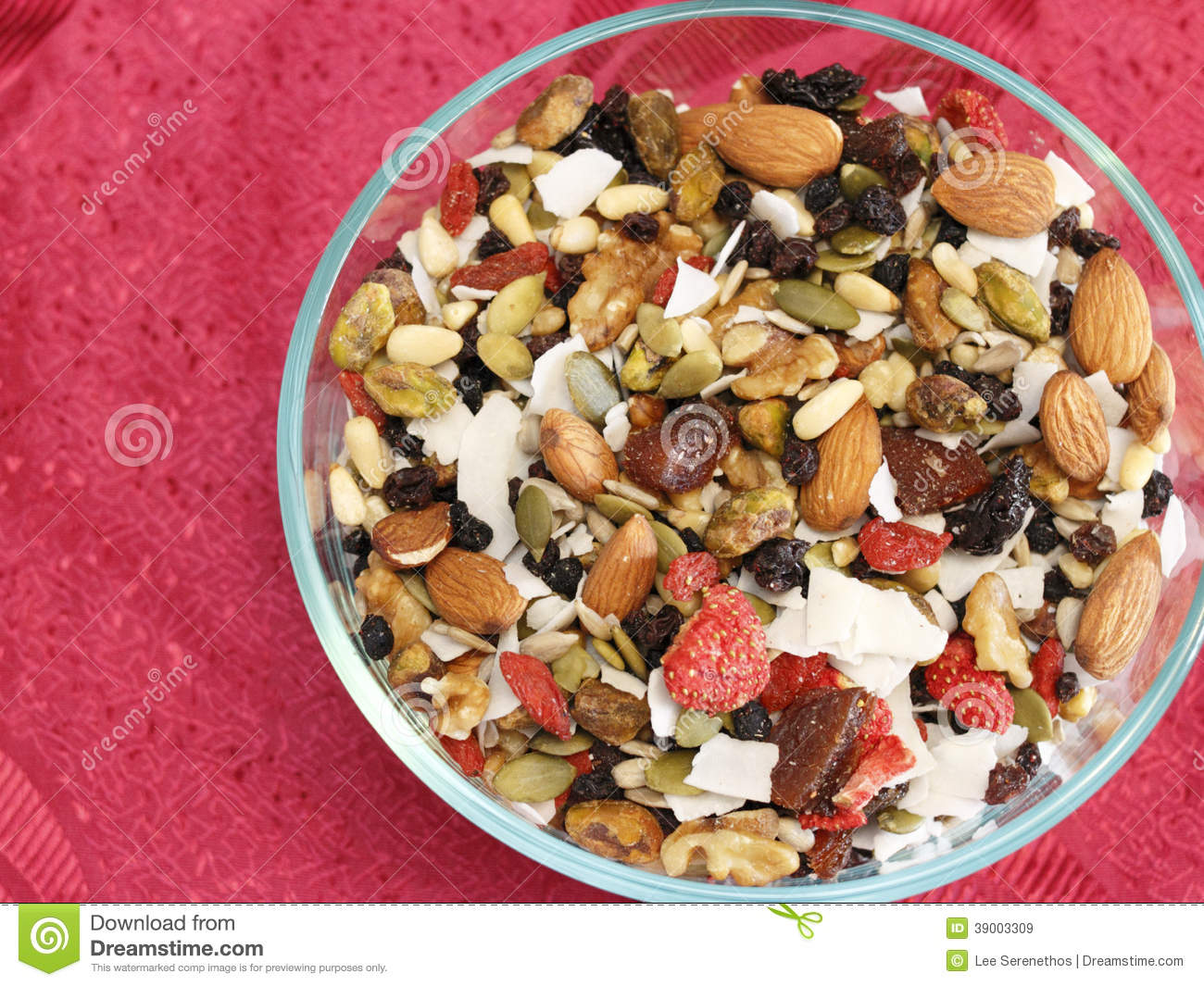 super fruit and nut mix stock image image of edible 39003309