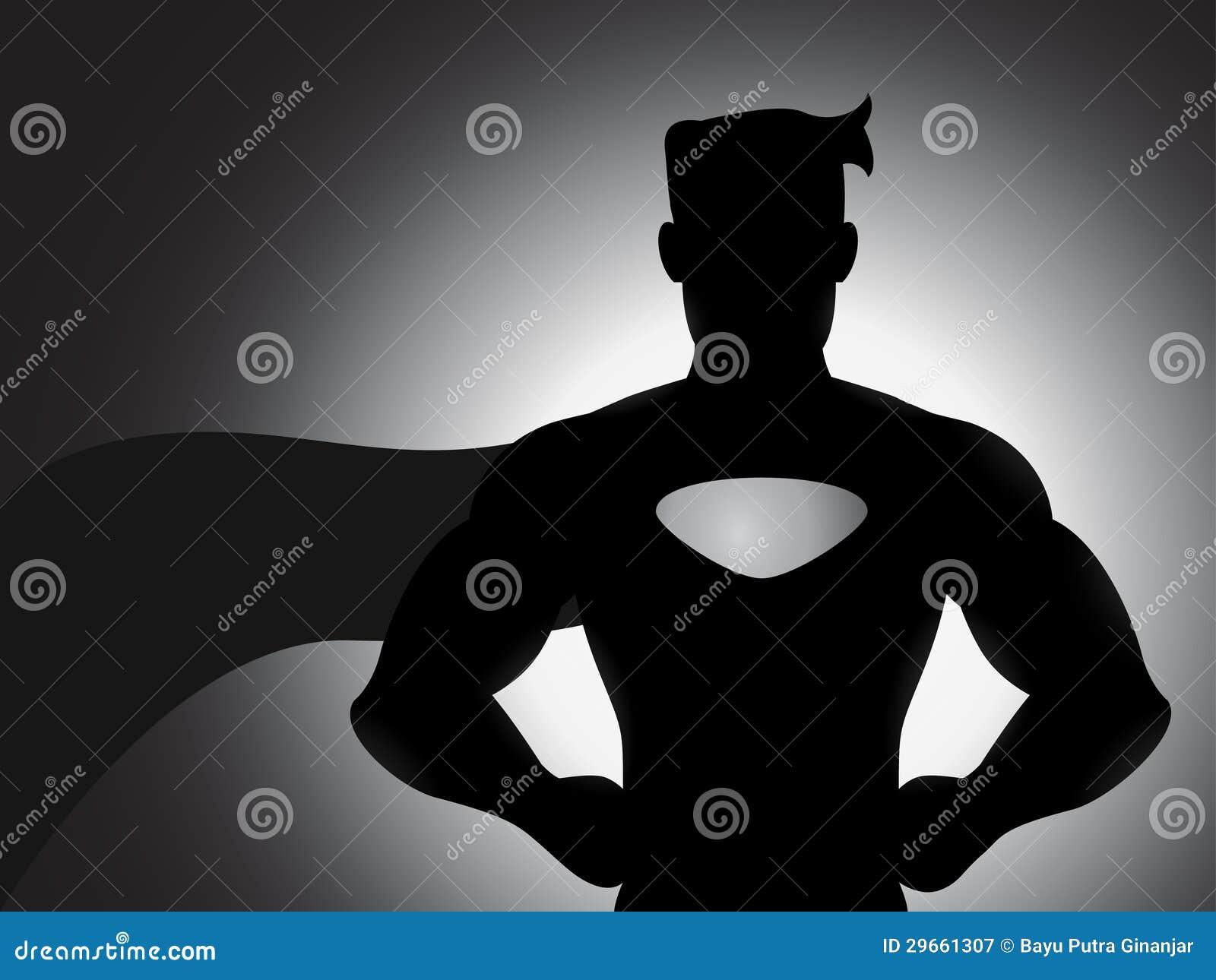 Super héroe en silueta