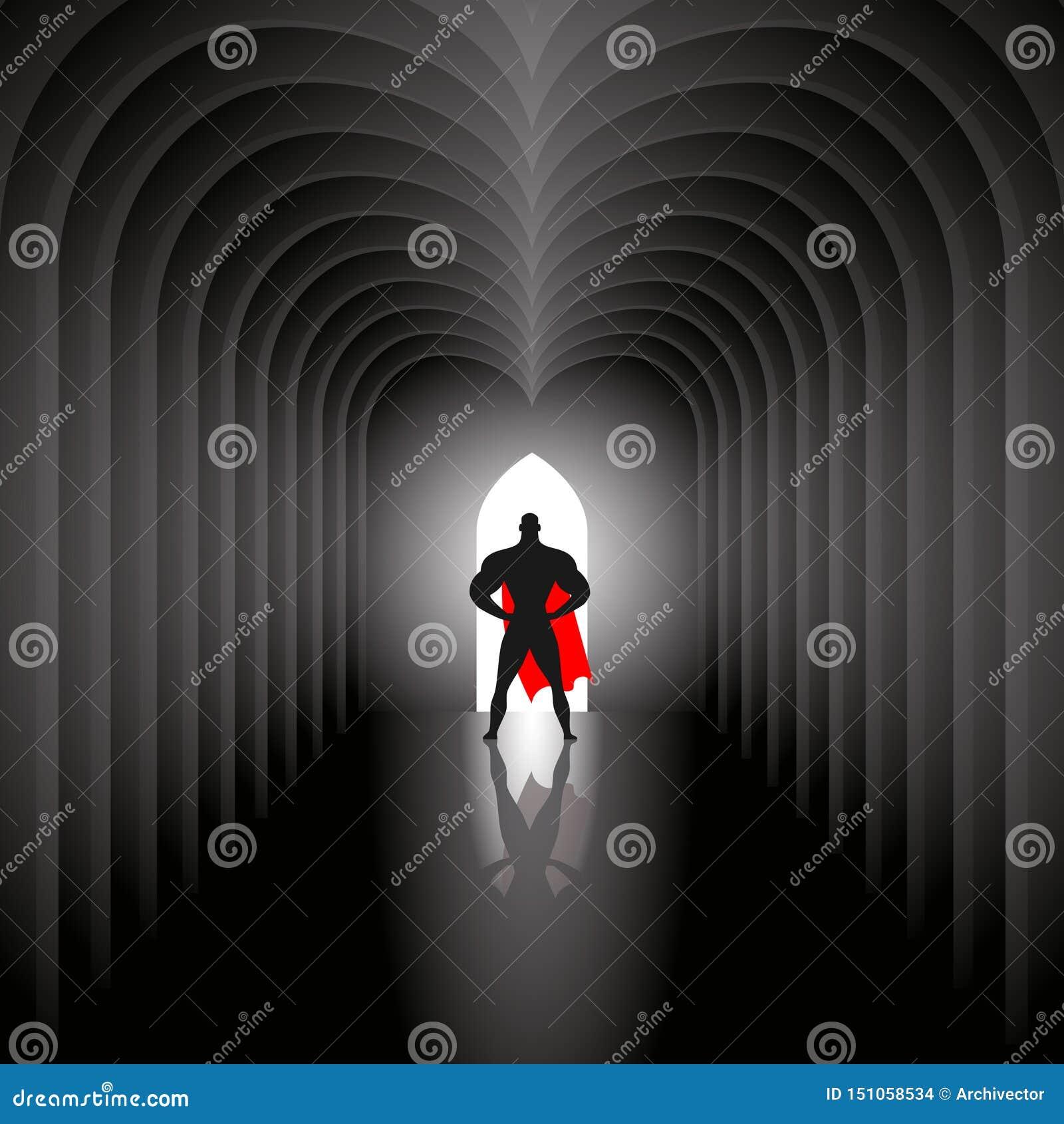 Super-herói no túnel