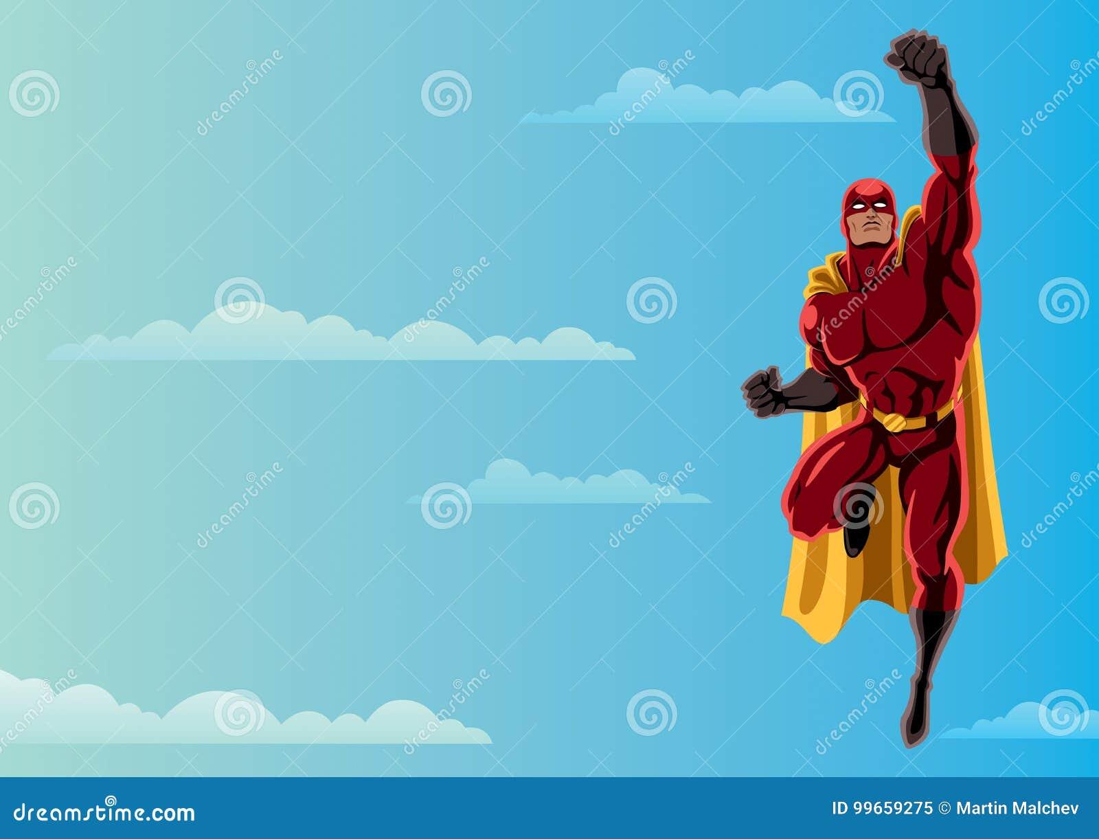 Super-herói que voa o céu 2
