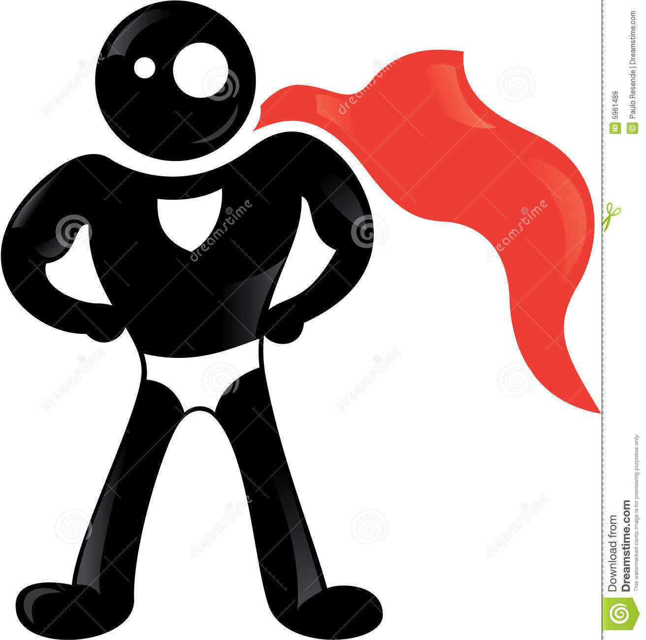 Super Hero Black Icon Royalty Free Stock Images Image