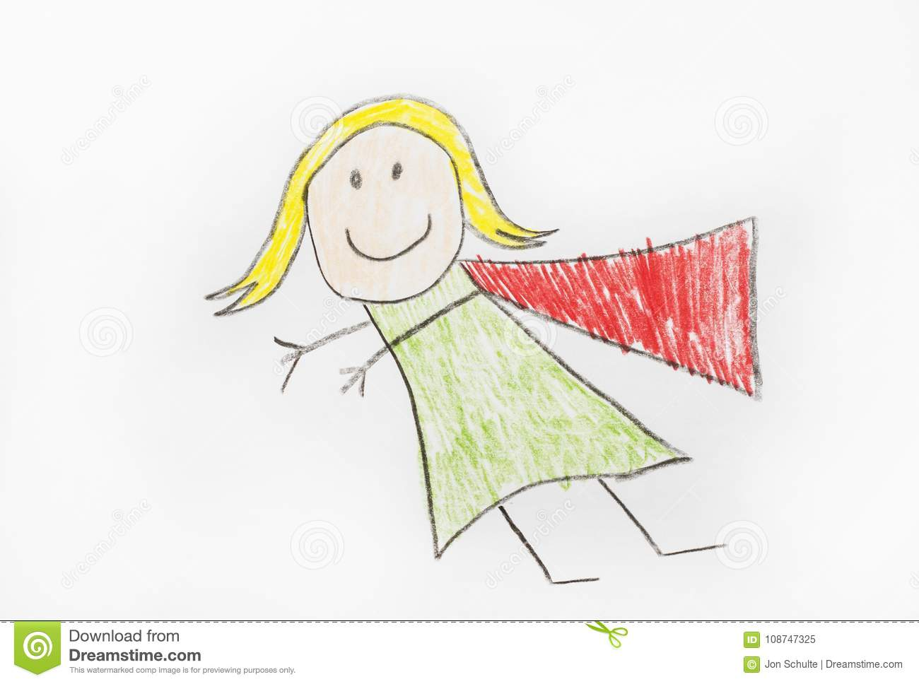 Super Hero Girl with Cape stock image  Image of courage