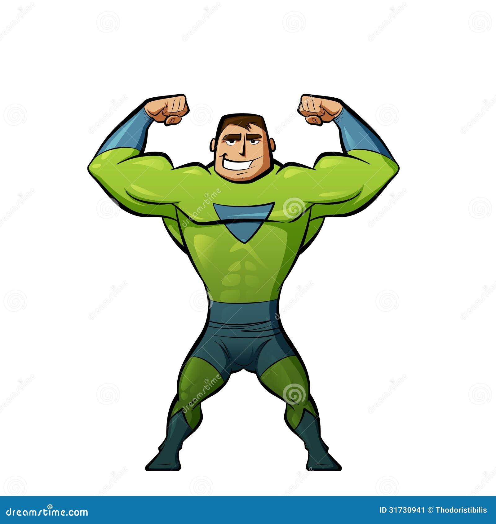 Super Hero In Green Suit Stock Image - Image: 31730941 Superhero Flying Vector