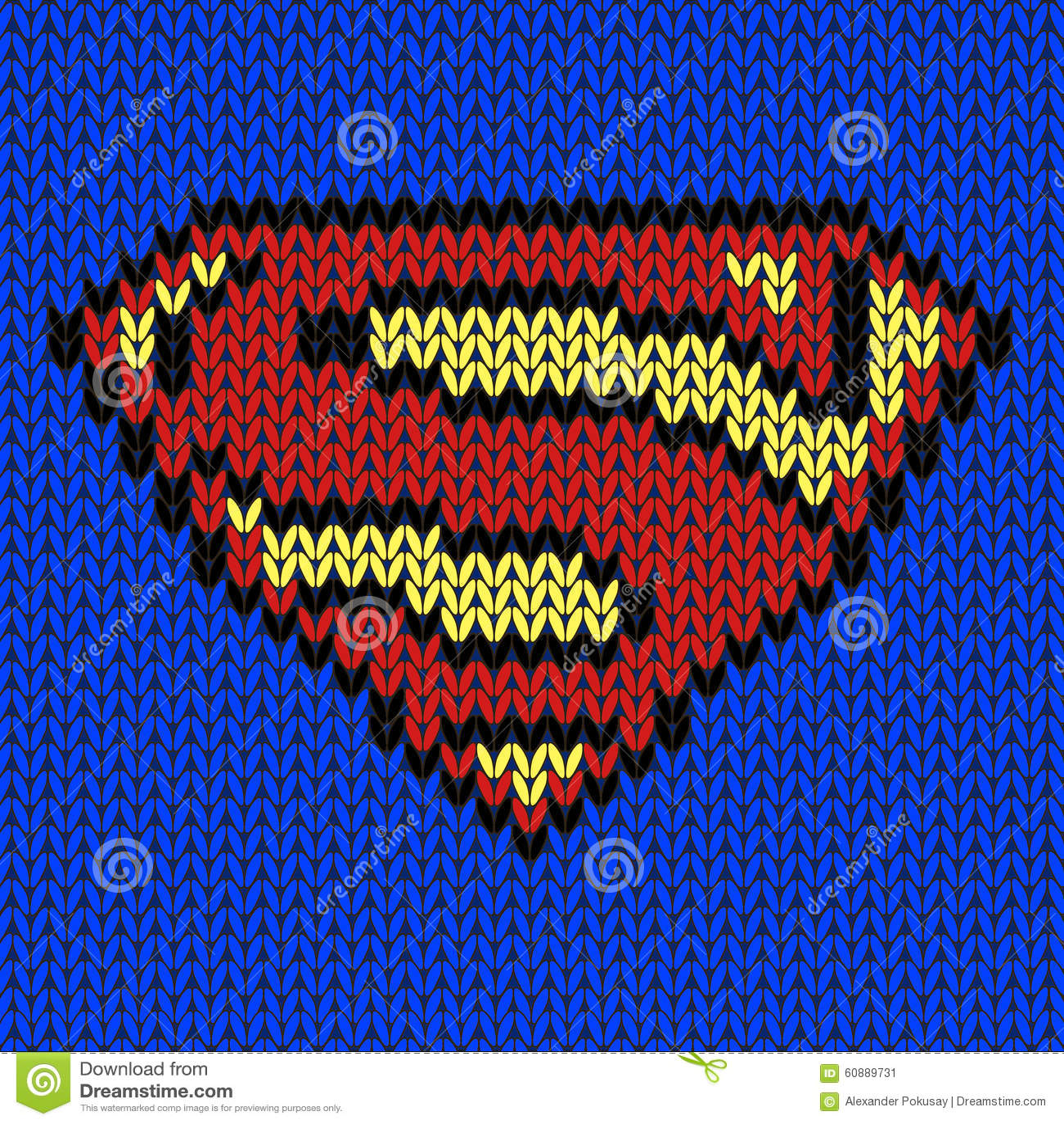 Super Hero Knitted Vector Logo Stock Vector - Illustration of ...
