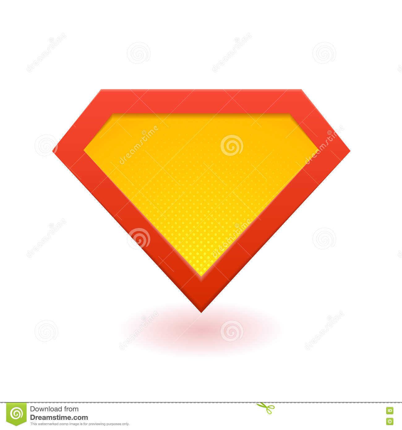 Super Hero Logo Stock Vector Illustration Of Orange 79379006
