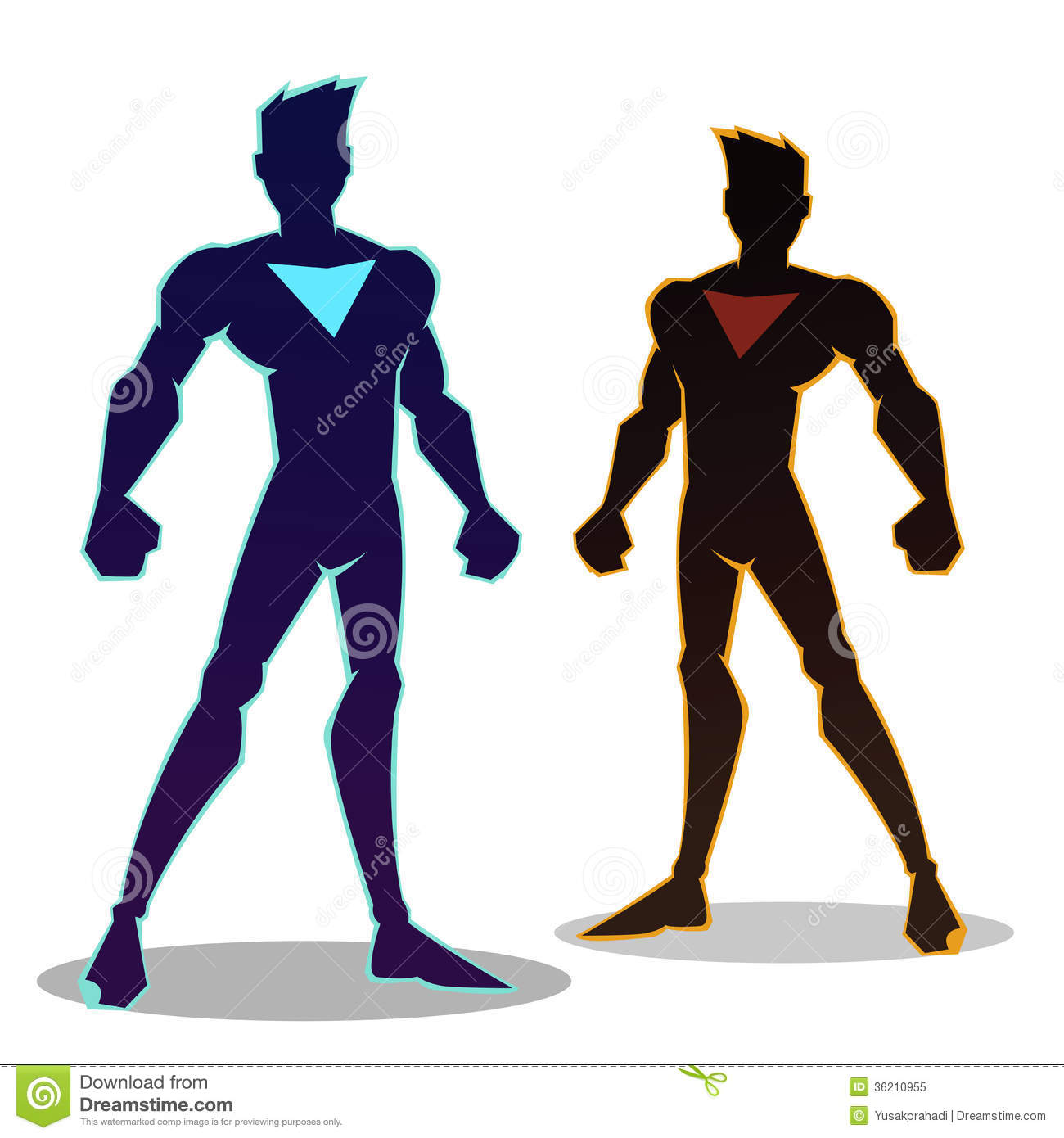 Super Hero Sillhouette Royalty Free Stock Photo - Image: 36210955