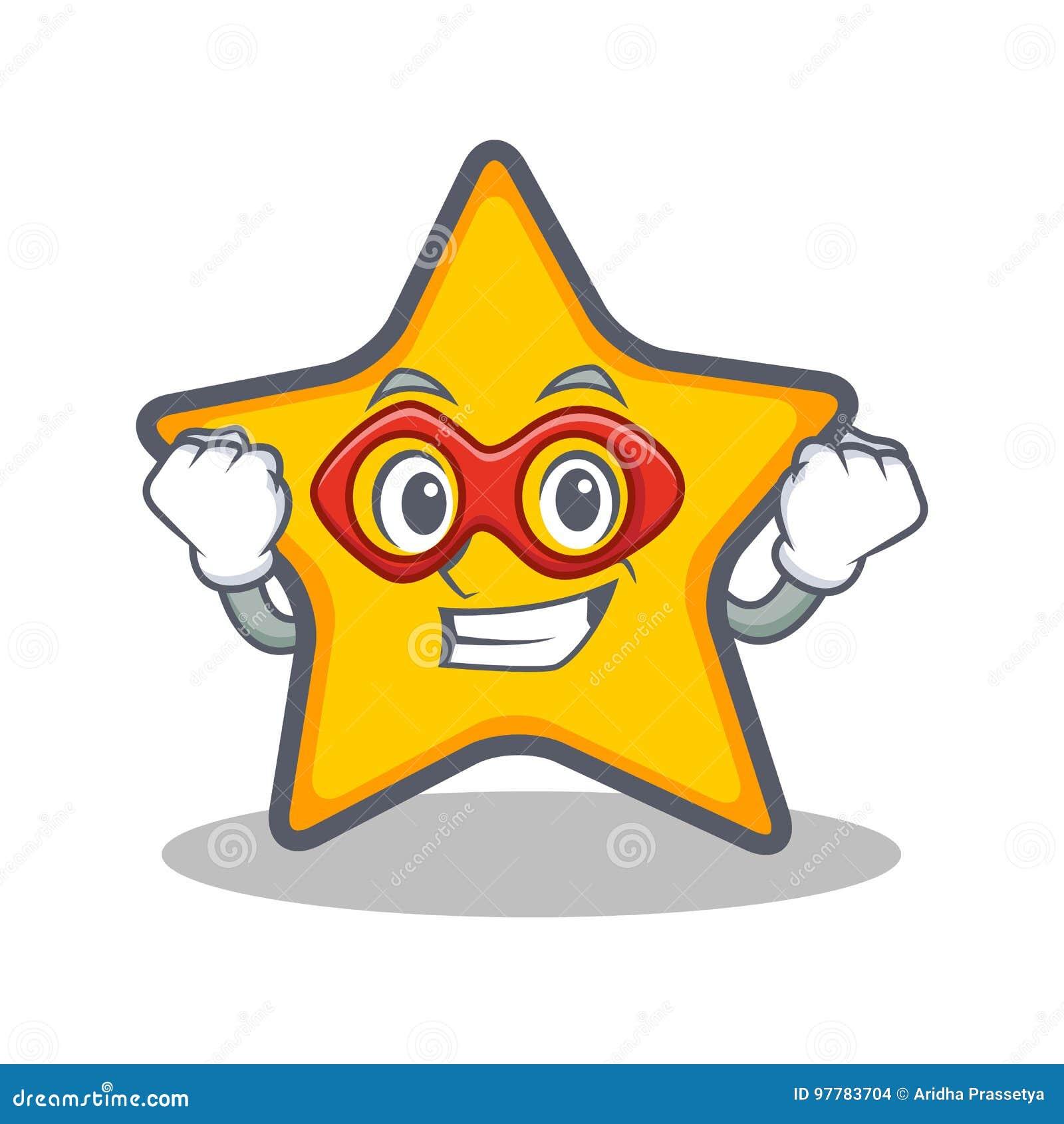 Super Hero Star Character Cartoon Style Stock Vector ...