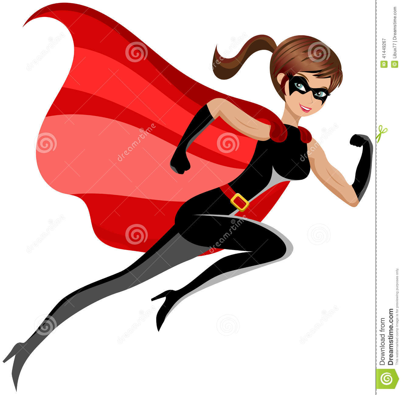 super hero woman running flying isolated cartoon vector. Black Bedroom Furniture Sets. Home Design Ideas