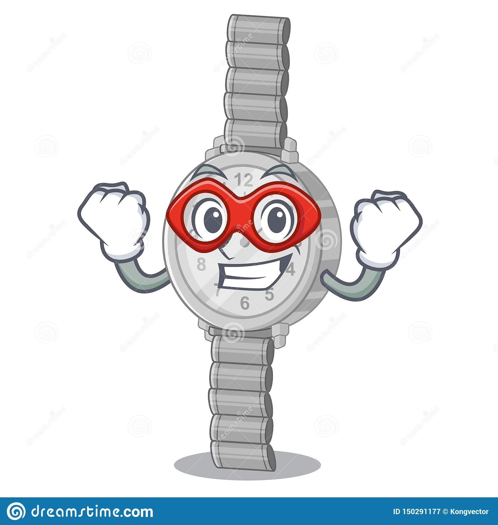 Super hero wristwatch in the a character shape