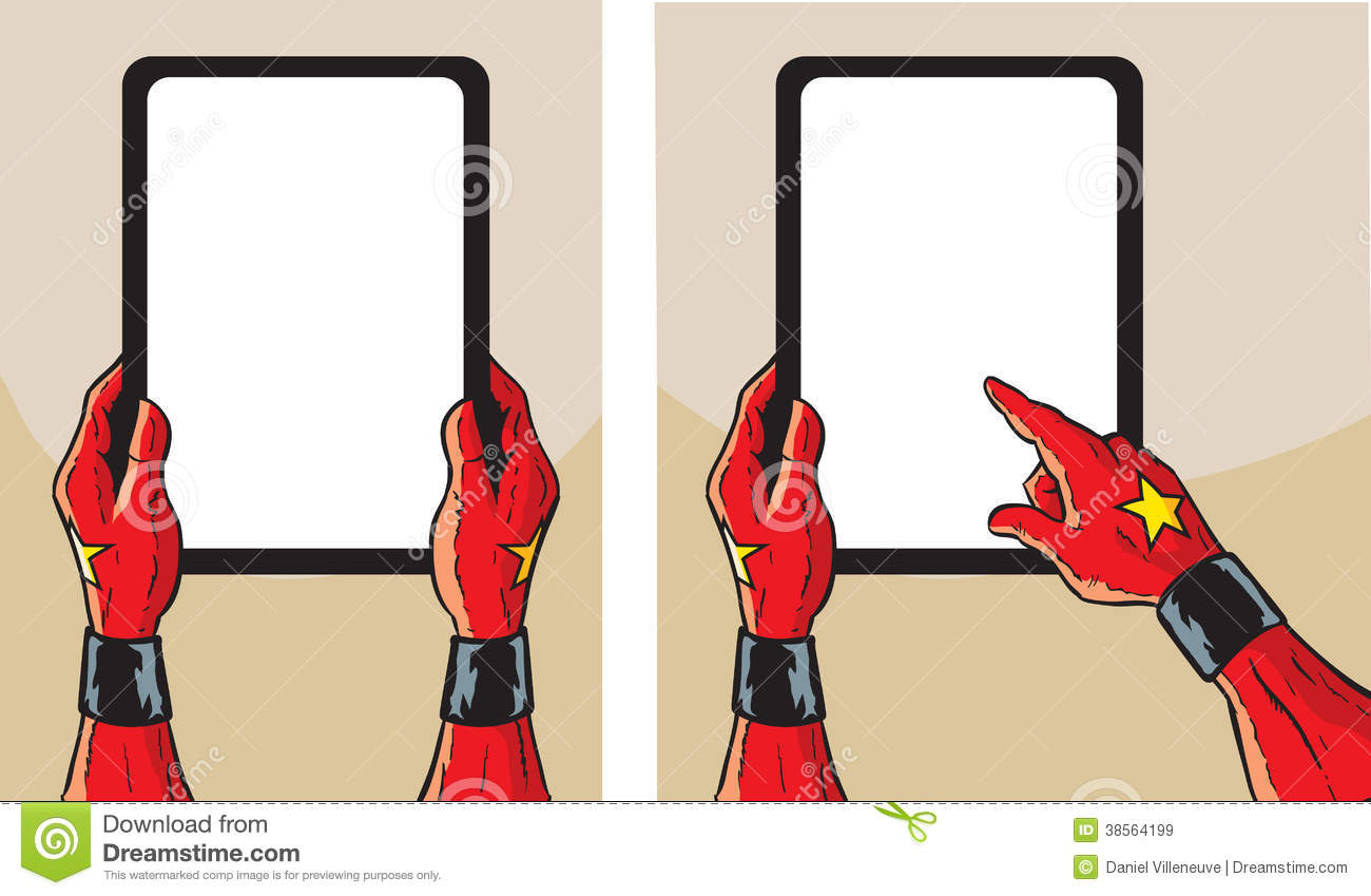 Super Heroine With Tablet Royalty Free Stock Images - Image: 38564199