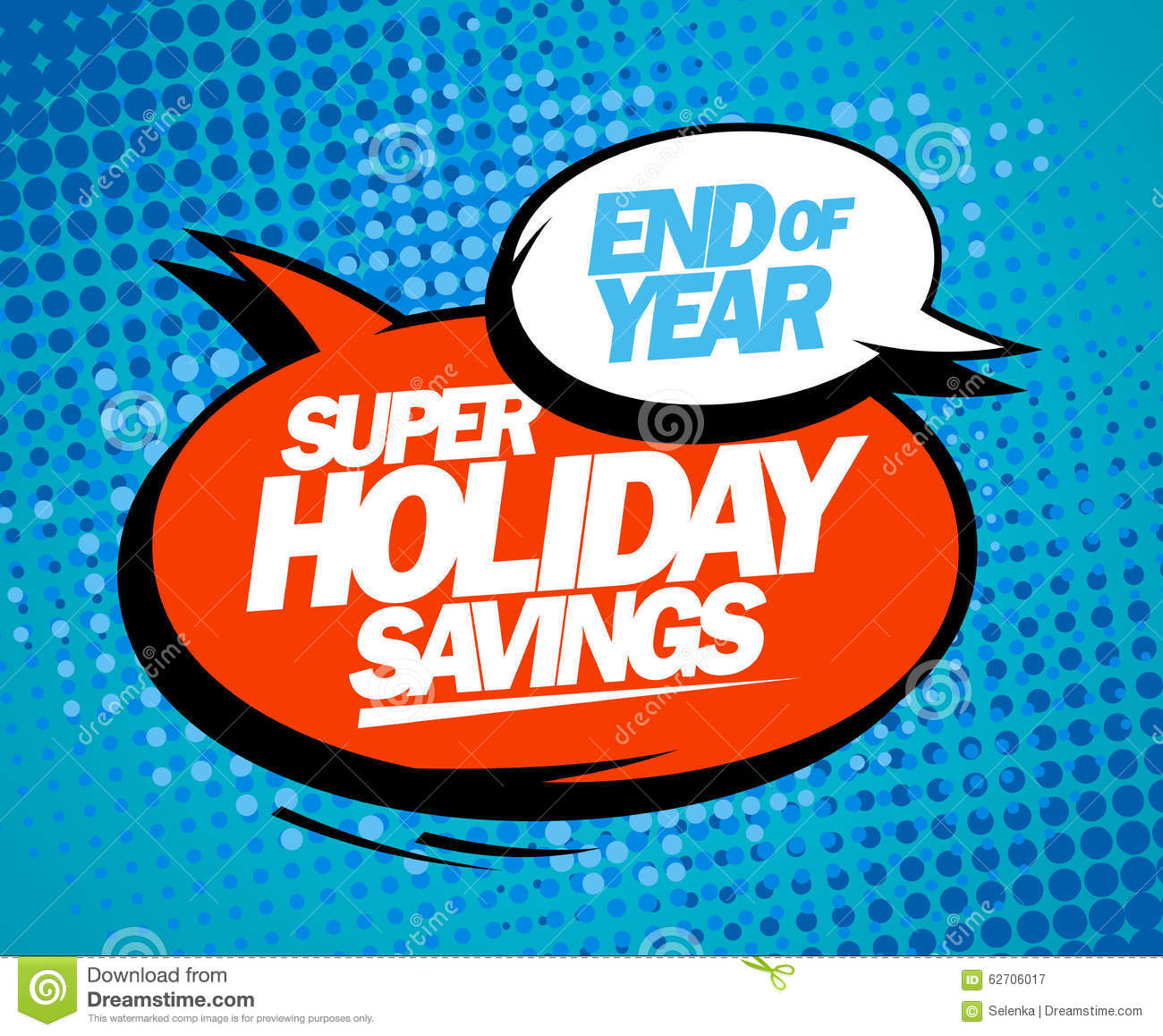 Super Holiday Savings End Of Year Sale Design
