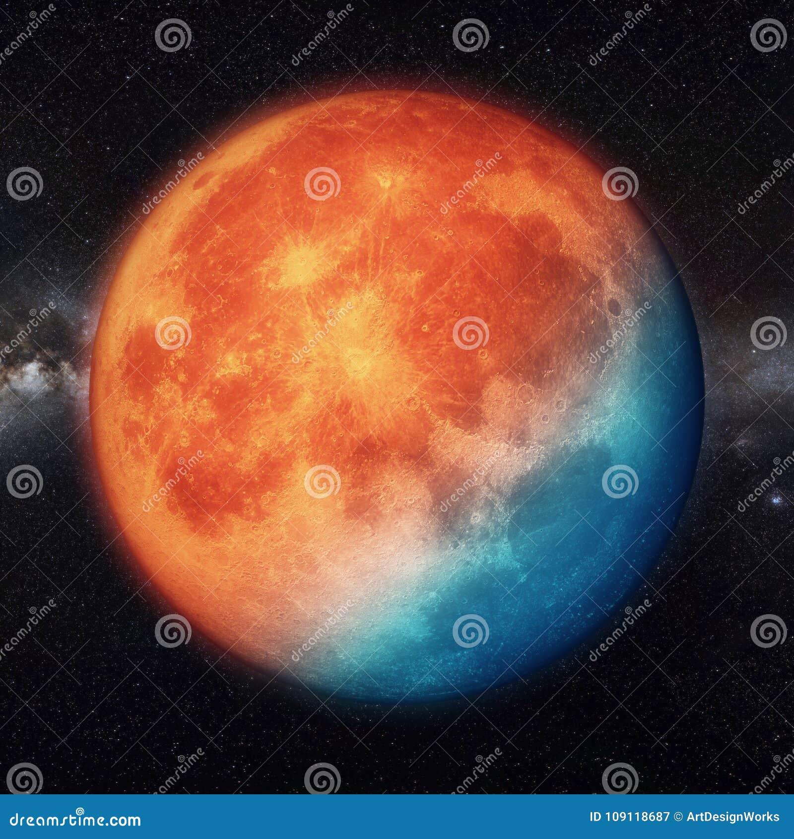 Super maan realistisch met het gloeien licht