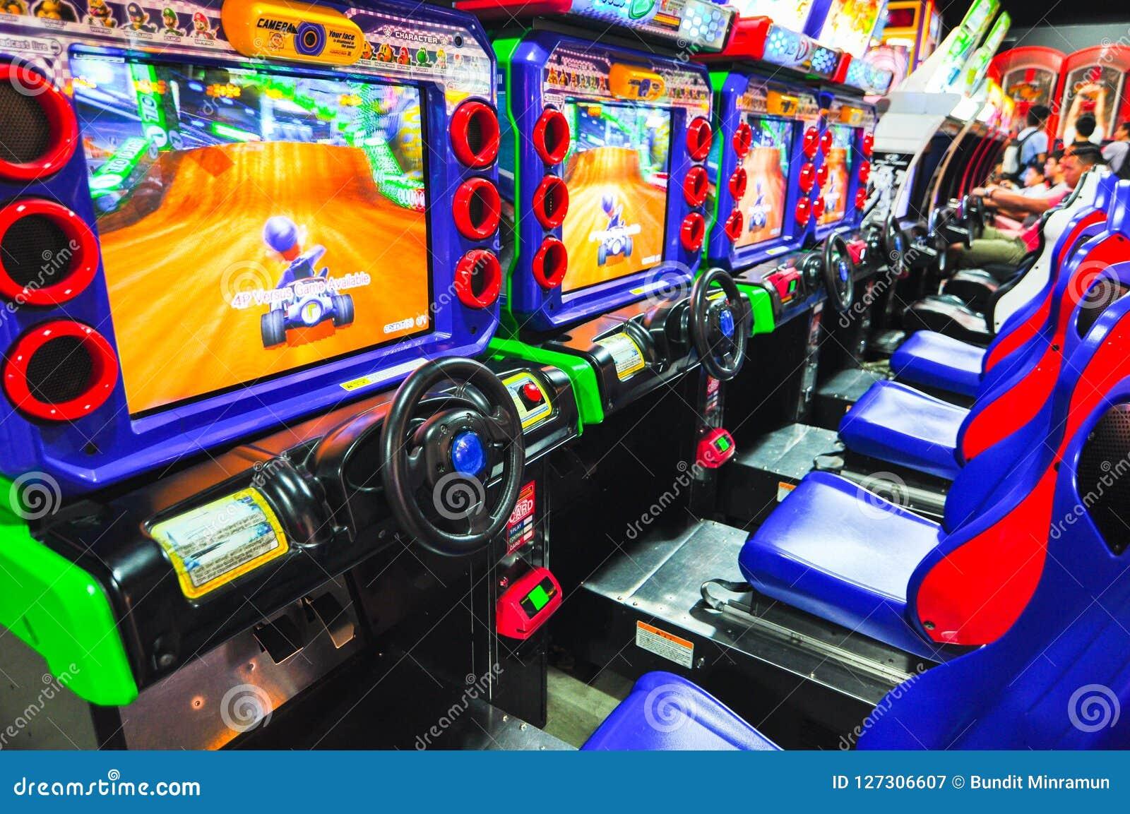 Super Mario Kart Racing Video Game Arcade At City Amusements