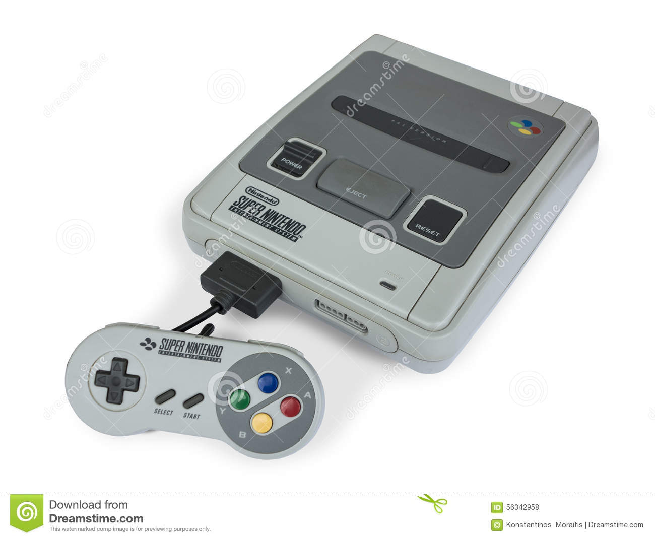 Super Nintendo Game Console Editorial Stock Photo - Image ...