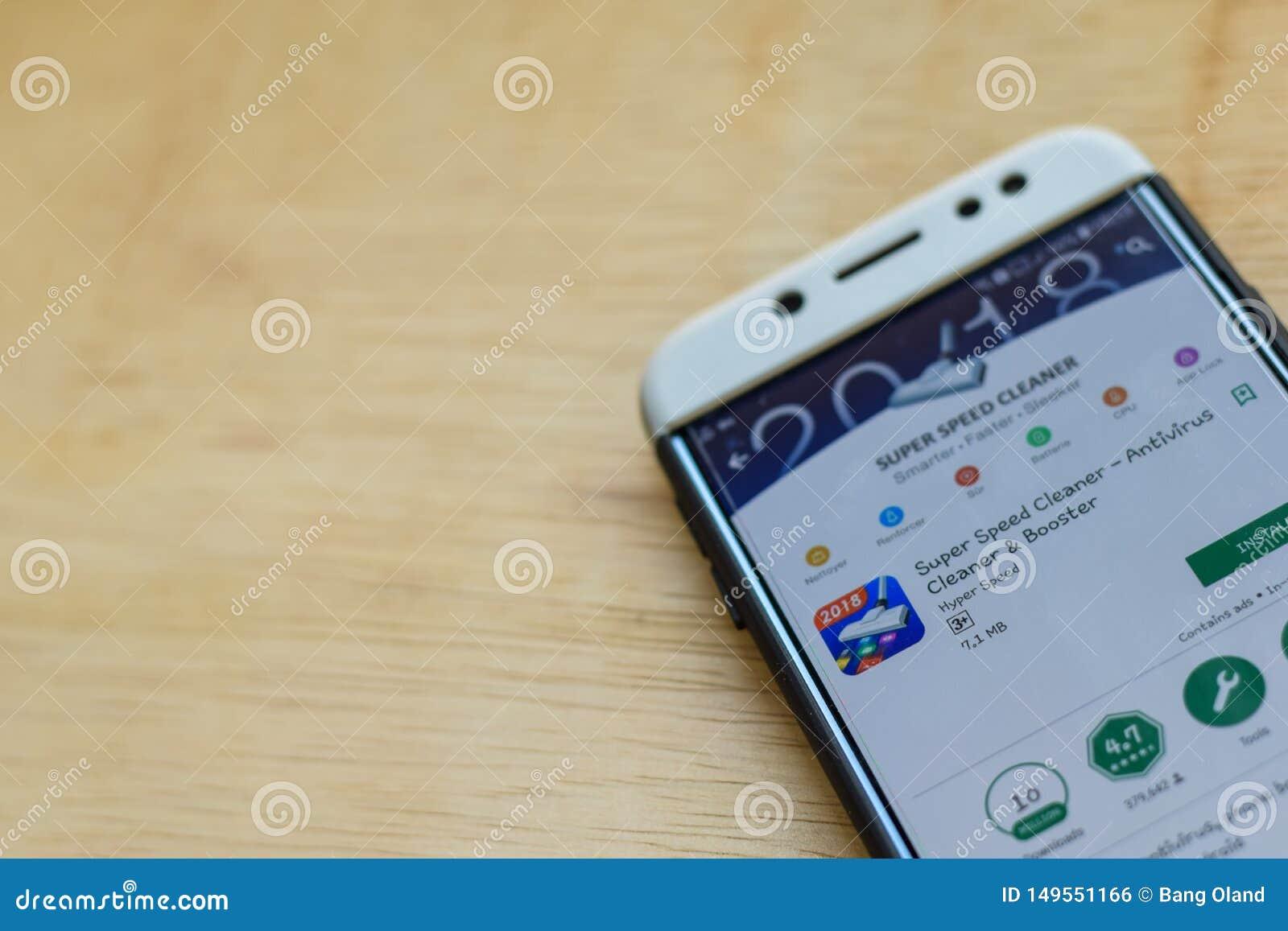 Super prędkości dev Czysty zastosowanie na Smartphone ekranie Antivirus Czysty & detonator jesteśmy freeware przeglądarką interne