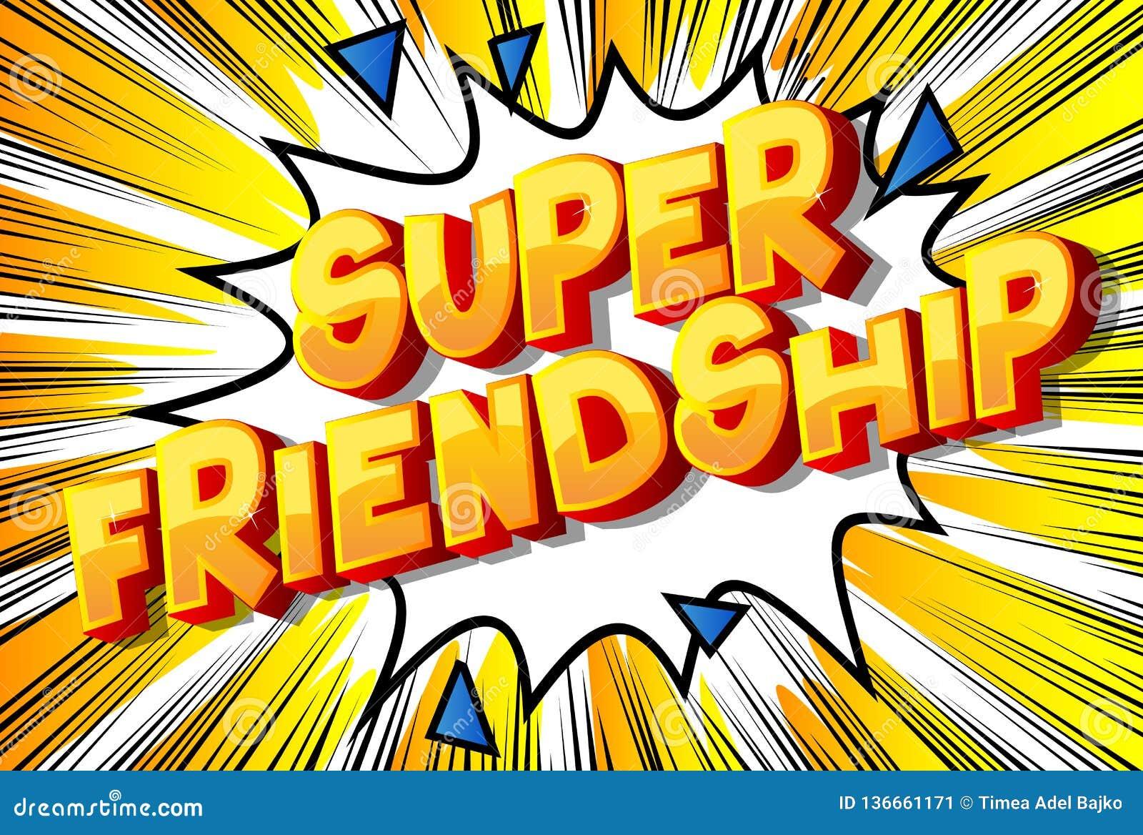 Super przyjaźń - komiksu stylu zwrot