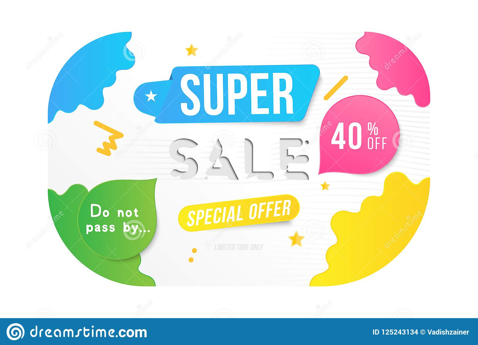 0270528648a7 Super sale 40 off discount. Banner template for design advertising and  poster with colors elements