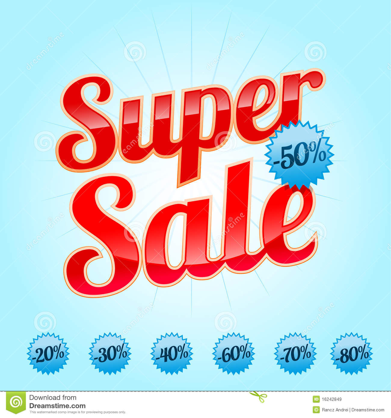 super sale sign in red color royalty free stock images