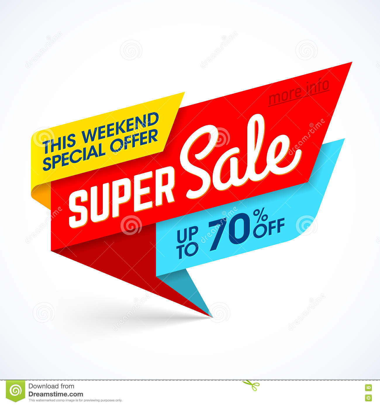 Weekend Discount: Super Sale, This Weekend Special Offer Banner Stock Vector