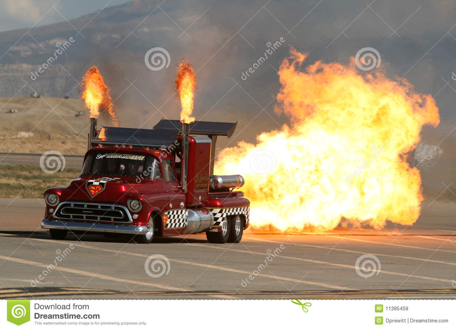 Super Shockwave Twin Jet Engine Truck