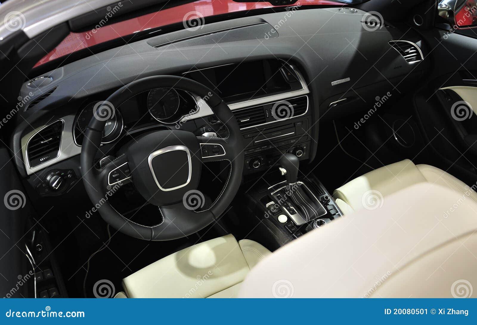 super sport car interior royalty free stock image 21127192. Black Bedroom Furniture Sets. Home Design Ideas