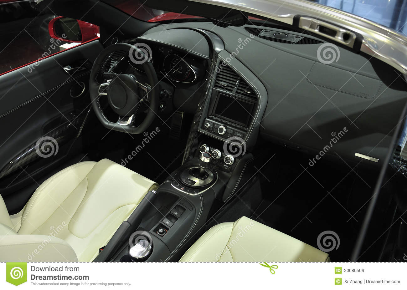 super sport car interior royalty free stock image image 20080506. Black Bedroom Furniture Sets. Home Design Ideas
