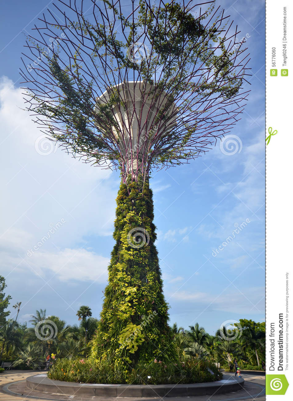 Super Tree In Garden By The Bay Editorial Image Image 56776060